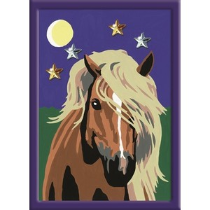 Раскрашивание по номерам Ravensburger Лошадь в лунном свете (27896)