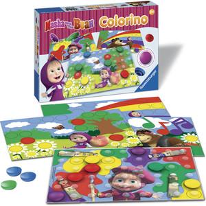Настольная игра Ravensburger Маша и Медведь Колорино (21192r) цена