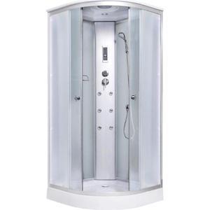 Душевая кабина Aqualux 90x90 белое стекло/заднее стекло матовое (AQ-4170GM-Wh) открытая душевая кабина triton стандарт б1 90x90 белая