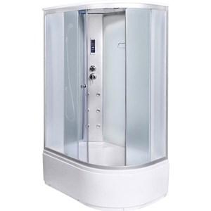 Душевая кабина Aqualux MODO-130 левая, 130х85х215 матовое стекло/заднее стекло белое (AQ-4073GFL-Wh) душевая кабина aqualux idro 100x100 белое стекло заднее стекло матовое aq 41700gm wh