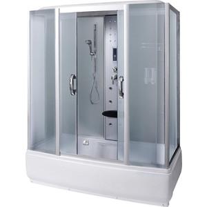 Душевая кабина Aqualux AQ-4077 GFH QUADRO бел.стекло/зад.стекло белое