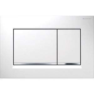 Клавиша смыва Geberit Sigma 30 белый/хром глянцевый (115.883.KJ.1) клавиша смыва geberit sigma 80 электронная зеркальное стекло 116 090 sm 1