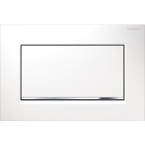 Клавиша смыва Geberit Sigma 30 белый/глянцевый хром (115.893.KJ.1) клавиша смыва geberit sigma 80 электронная зеркальное стекло 116 090 sm 1