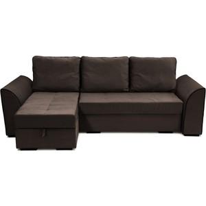 Угловой диван Вентал Арт Корсика Sound Dark, коричневый