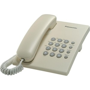 Проводной телефон Panasonic KX-TS2350RUJ телефон panasonic kx ts2350ruj бежевый