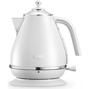 Чайник электрический DeLonghi KBOE 2001.W мультиварка delonghi fh 1394 2300 вт 5 л белый черный
