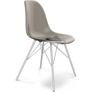 Подробнее о Стул Sheffilton SHT-S37 дымчатый/черный муар стул sheffilton цвет янтарь 54 х 55 х 78 см