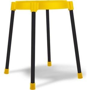 Табурет Sheffilton SHT-S36 желтый/черный, (4 штуки) стул барный sheffilton sht s48 желтый черный муар 2 штуки