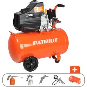 Компрессор PATRIOT Euro 50-260K  пистолет для накачки шин с манометром patriot gn 60g 830901025