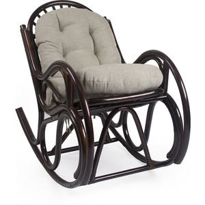 Кресло-качалка Мебель Импэкс Bella орех с подушкой