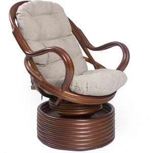 Фотография товара кресло-качалка Мебель Импэкс Davao коньяк с подушкой (538408)