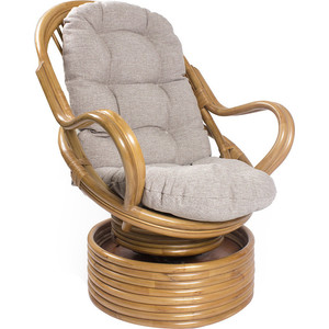 Фотография товара кресло-качалка Мебель Импэкс Davao мёд с подушкой (538409)