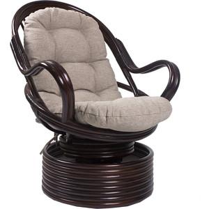Кресло-качалка Мебель Импэкс Davao орех с подушкой