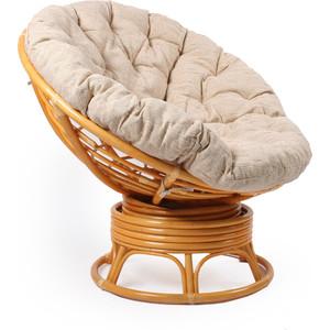 Кресло для отдыха Мебель Импэкс Papasan мёд с подушкой