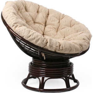 Кресло для отдыха Мебель Импэкс Papasan орех с подушкой мебель для кухни
