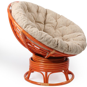 Кресло для отдыха Мебель Импэкс Papasan коньяк с подушкой мебель для кухни
