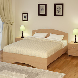 Кровать Промтекс-Ориент Рено 1 Клен танзай (200x200x77 см) жильбер рено исцеление воспоминанием