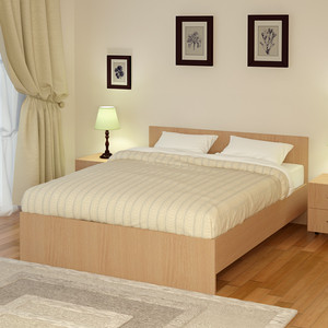 Кровать Промтекс-Ориент Рено 2 Клен танзай (200x200x80 см)