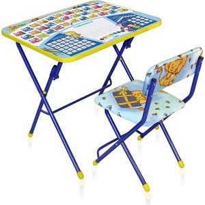 Комплект детской мебели Ника КУ1 ''Первоклашка'' синий фон
