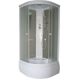 Душевая кабина Aqualux OPTIMA PLUS 90х90 задние стенки белые (AQ-307GM-Wh)