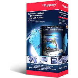 Чистящие средство Topperr 3024 Набор для ухода за TFT/ LCD/ LED экранами lcd display matrix 7 inch tablet h b0715fpc 21 u 60p tft lcd screen panel lens frame replacement free shipping