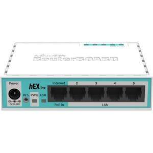 Маршрутизатор MikroTik RB750r2 hEX lite