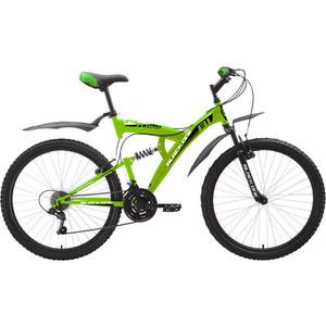 Велосипед Black One Flash черно-зеленый 18