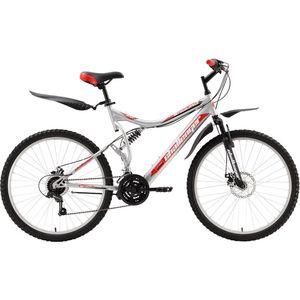 Велосипед Challenger Enduro Lux серебристо-красный 19 велосипед challenger mission lux fs 26 черно красный 16