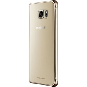 Фотография товара чехол Samsung N920 Clear Cover Gold (EF-QN920CFEGRU) (542916)