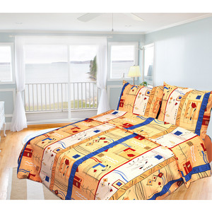 Комплект постельного белья Олеся 2-х сп, бязь, Истанбул, n70
