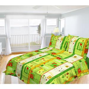 Комплект постельного белья Олеся Евро, бязь, Южный Стамбул, n70
