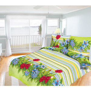 Комплект постельного белья Олеся Семейный, бязь, Царство цветов, n70