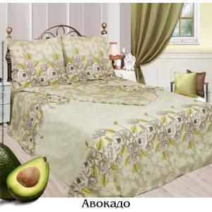 Комплект постельного белья Сова и Жаворонок 1,5 сп, бязь, Авокадо, n50