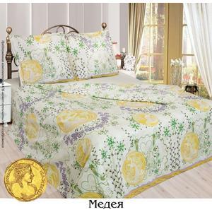 Комплект постельного белья Сова и Жаворонок Евро, бязь, Медея, n70