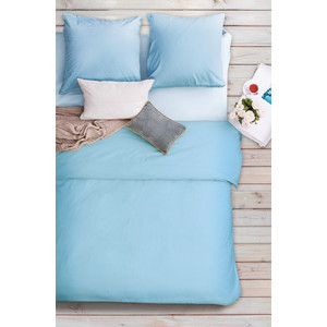 Комплект постельного белья Сова и Жаворонок Евро, бязь Premium, гладкокрашеная, Водяная лилия футболка wearcraft premium printio сова сова