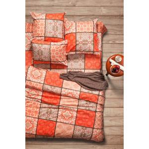 Комплект постельного белья Сова и Жаворонок 1,5 сп, поплин, Шафран, n70