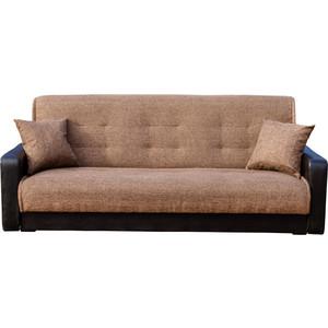 Диван Стоффмебель (ЛМФ) Лондон рогожка коричневая шатура диван лондон рогожка бежевая 2 подушки в подарок