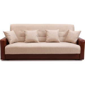 Диван Стоффмебель (ЛМФ) Лондон рогожка микс бежевая шатура комплект лондон 2 рогожка микс бежевая диван 2 кресла