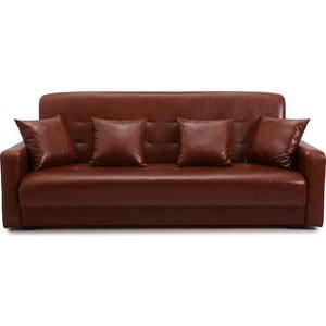 Диван Стоффмебель (ЛМФ) Аккорд коричневый шатура диван аккорд экокожа коричневый 2 подушки в подарок