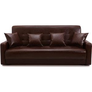 Диван Стоффмебель (ЛМФ) Аккорд тёмно-коричневый шатура диван аккорд экокожа коричневый 2 подушки в подарок