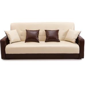 Диван Стоффмебель (ЛМФ) Аккорд бежевый с тёмно-коричневым шатура диван аккорд экокожа бежевый с темно коричневым 2 подушки в подарок