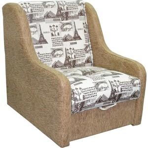 Кресло-кровать Mebel Ars Аккорд - газета коричневая ППУ incity kids футболка с длинным рукавом