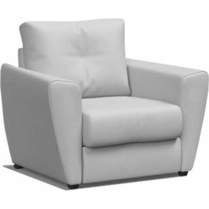 Кресло-кровать Mebel Ars Квартет - экокожа белая ППУ (110/90/80) кресло кровать мини диван глобус 90 акция