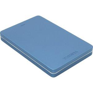 цена Внешний жесткий диск Toshiba 1Tb Canvio Alu blue (HDTH310EL3AA)