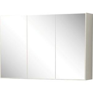 Зеркальный шкаф Меркана Лаура 105 см с розетка, белый (30648) цена
