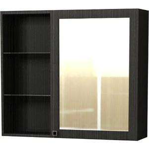 Зеркальный шкаф Меркана Маэстро 70 см, полки слева, розетка, темно-серый (30650) телефонная розетка abb bjb basic 55 шато 1 разъем цвет черный