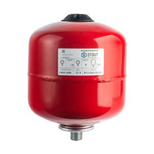 Расширительный бак STOUT для систем отопления с диафрагмой (красный) (STH-0004-000008) расширительный бак stout для систем отопления с диафрагмой с ножками красный sth 0005 000035