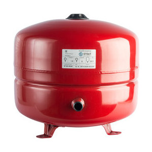 Расширительный бак STOUT для систем отопления с диафрагмой с ножками (красный) (STH-0005-000035)