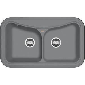 Мойка кухонная Florentina Крит 860 грей FSm (20.115.E0860.305) мойка кухонная florentina крит 780 780х510 грей fsm 20 170 d0780 305