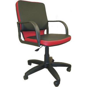 Кресло Союз мебель Элит ТГ экокожа черно-красная